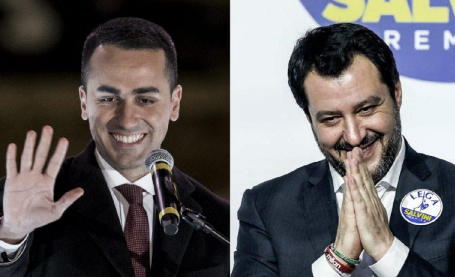 Salvini e di maio: una poltrona per due. e tra i due litiganti